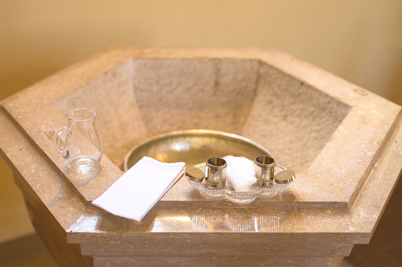 ONE: Holy water is an essential component during a baptism